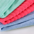 Three folded terry towels — Foto Stock #2254132