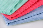 Three folded terry towels — Stock Photo
