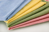Set of four color honeycomb towels — Stock Photo