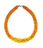 Yellow handmade weaved beads — ストック写真