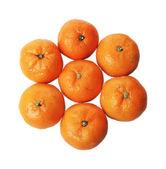 Nice texture consisting of mandarins, isolated on a white background — Stock Photo