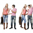 Guy and girl - Stock Photo