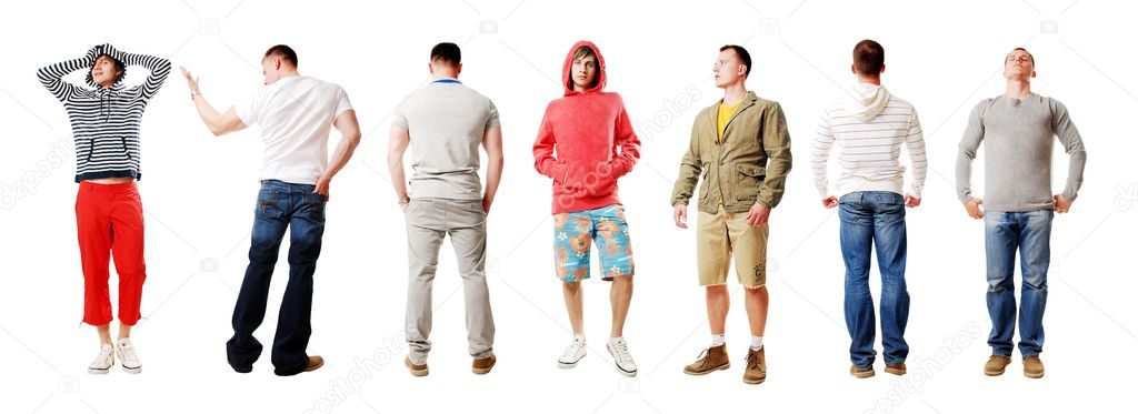 Sportsmen isolated on a white background  Stock Photo #1267679