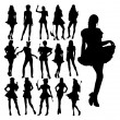 Silhouettes — Stock Photo