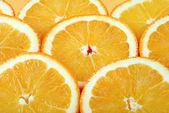 Slices of juicy ripe orange — Stock Photo