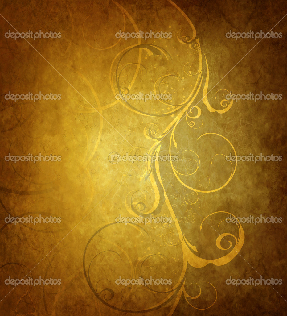Old wood with decorative floral wave — Stock Photo #1118921