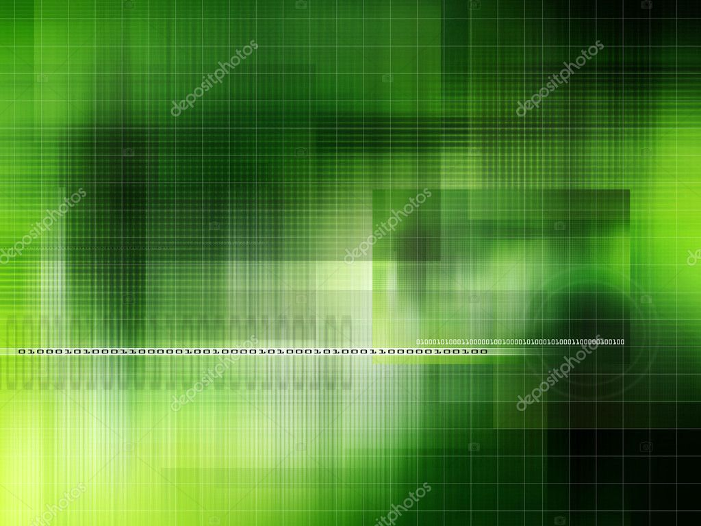 Modern green background with abstract smooth lines and numbers  Stock Photo #1119135
