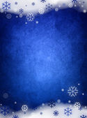 Ice blue christmas background — Stock Photo