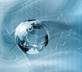 Geography abstract background — Stock Photo
