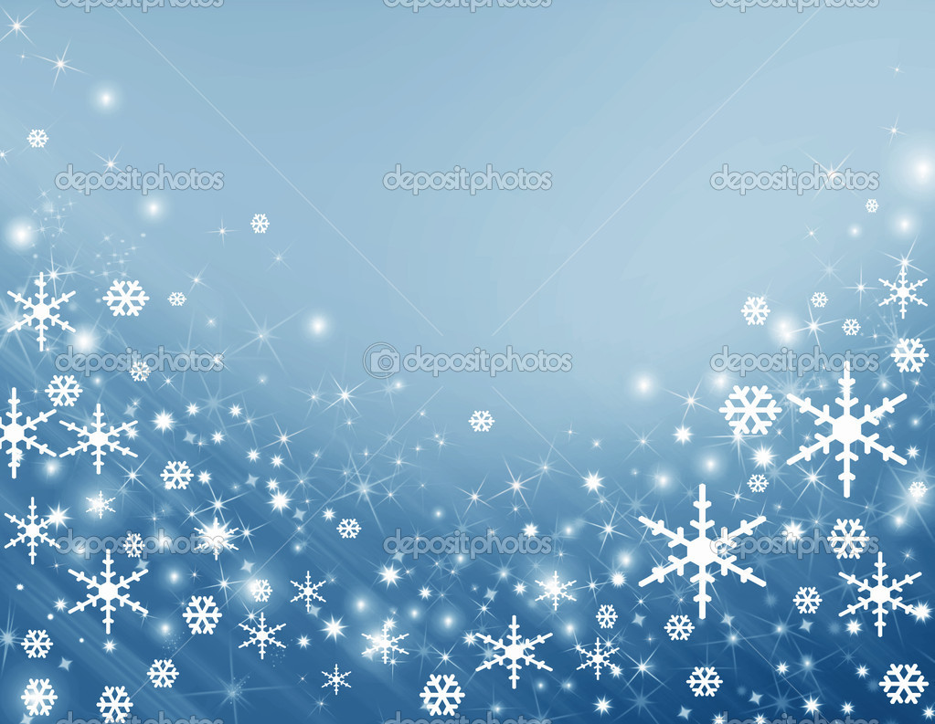 Blue background with a snowflake — Photo #1121910