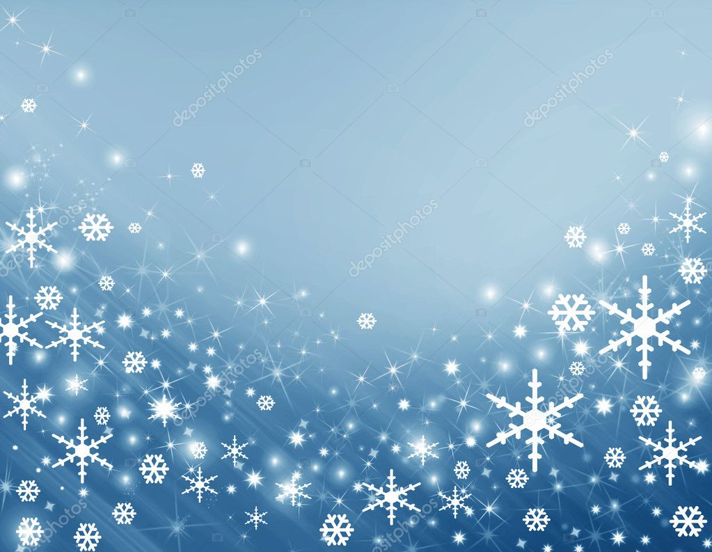Blue background with a snowflake  Foto de Stock   #1121910