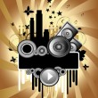 Royalty-Free Stock Vector Image: Music Grunge Background