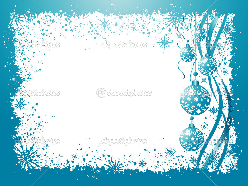 Christmas grunge vector background with balls, stars and snowflakes — Stock Vector #1155383
