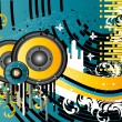 Grunge Music Background - Imagen vectorial