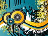 Grunge Music Background — Stock Vector