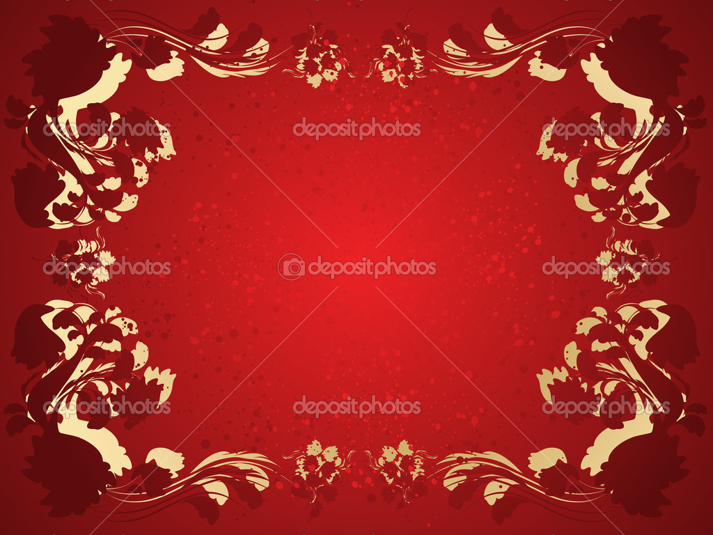 Vector background with floral frame — Stock Vector #1406256