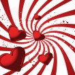 Red valentines card - Stockvectorbeeld