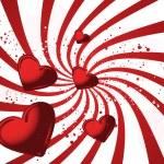 tarjeta de San Valentín rojo — Vector de stock