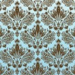 Decorative seamless floral ornament — Vettoriali Stock