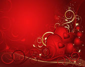 Red valentines background — Stock Vector