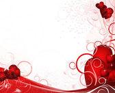 White valentines background — Stock Vector