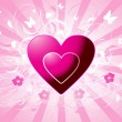 Pink vector hearts — Stock vektor