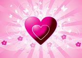 Pink vector hearts — Stock Vector