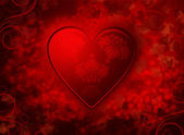 Red valentines background — Stock Photo