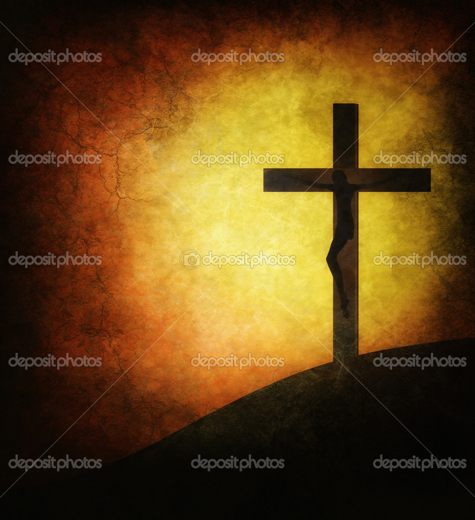 Jesus Christ on a grunge background of the sun — Photo #2185083