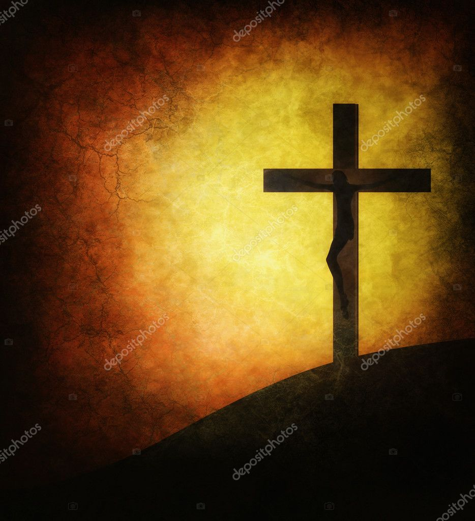 Jesus Christ on a grunge background of the sun — Stock Photo #2185083