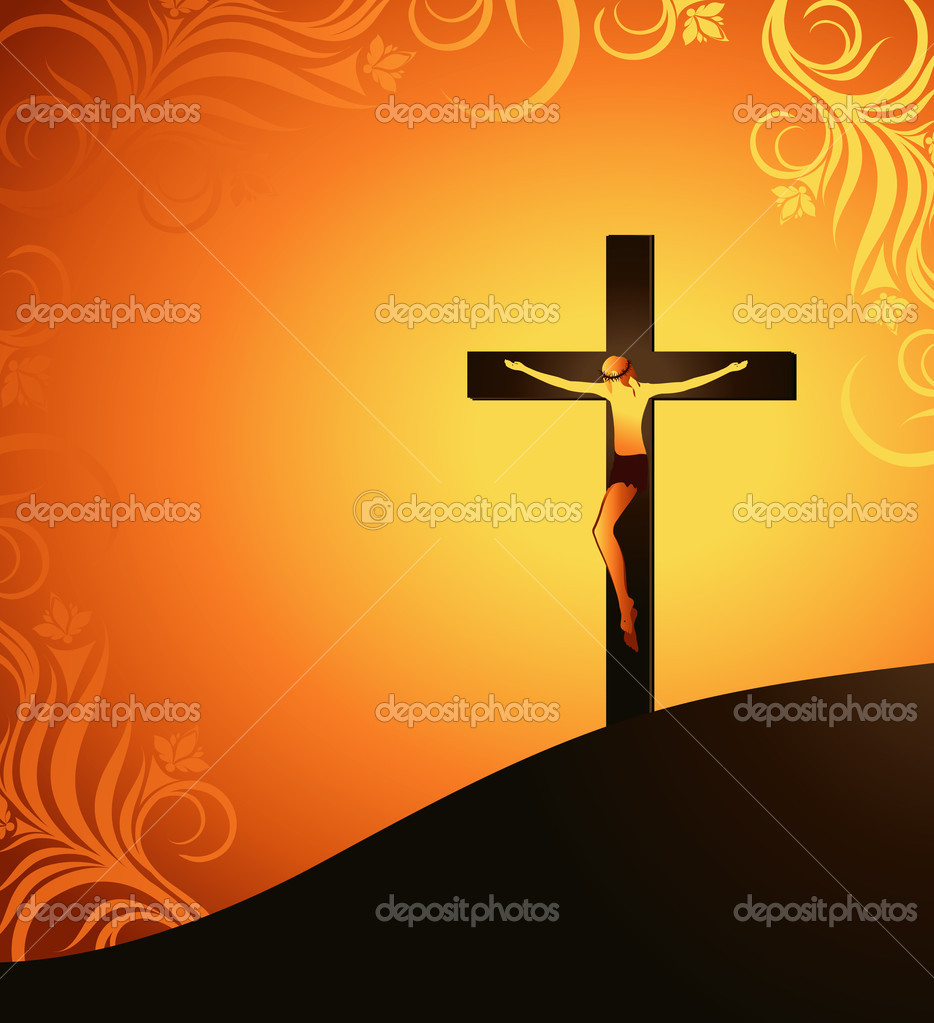 Jesus Christ on a background of the sun — Stock Vector #2185206