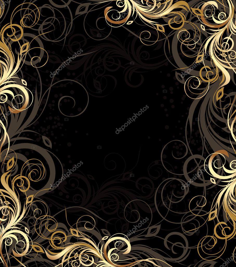 Фото черного фона с узорами