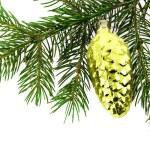 Christmas fur-tree with decoration — Stock Photo