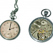 Stock Photo: Old pocket watch isolated