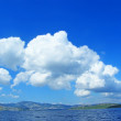 Sea landscape with cloud — Stock Photo