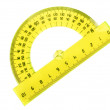 Yellow protractor isolated — Stock Photo