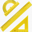 Stock Photo: Set of measurement instrument-protractor