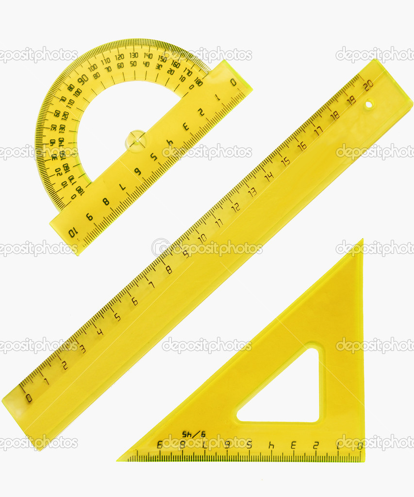 Set of measurement instrument- protractor — Stock Photo #1114036