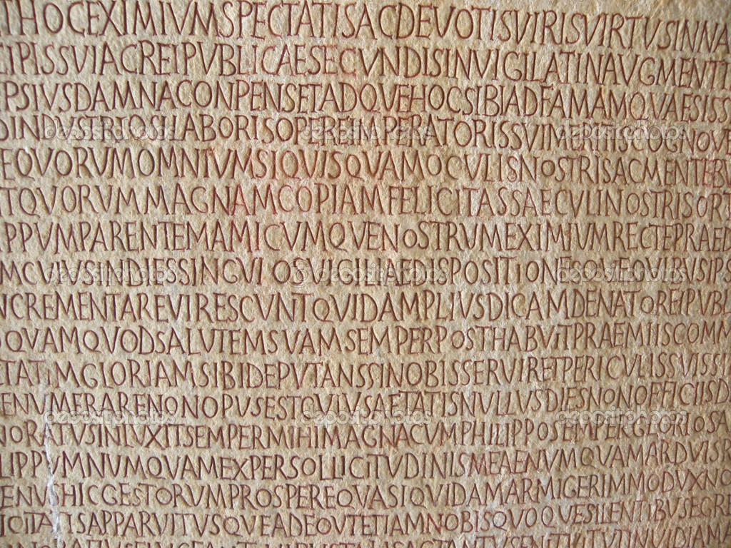 Old text on ancient wall  stone — Foto de Stock   #1116818