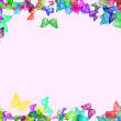 Background with butterfly as frame — Stock Photo #1126010