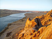 Central Asia, river lli, Kazakhstan — Stock Photo