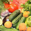 Colorful  group of vegetables and fruits — Stock Photo
