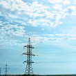 Energy:high voltage  line and tower — 图库照片