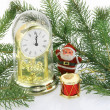 Christmas still life with Santa - Stock Photo