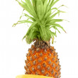 Stock Photo: Pineapple and bananas