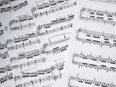 Musical note as background — Stock Photo