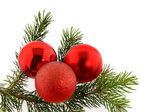 Christmas fir-tree with bolls — Stock Photo