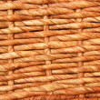Wickerwork basket as background — Stock Photo