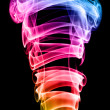 Stock Photo: color smoke on black