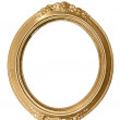 Stock Photo: Oval golden frame